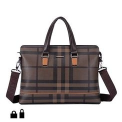 Berra - Plaid Briefcase