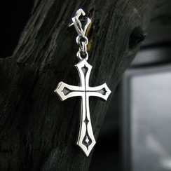 Sterlingworth - Cross Sterling Silver Single Earring