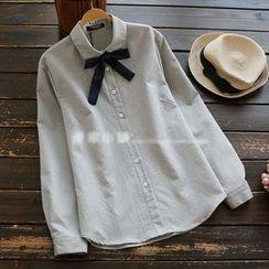 YOYO - 蝴蝶結襯衫