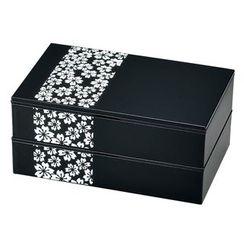 Hakoya - Hakoya Square 2 Layers Lunch Box Sakurako White