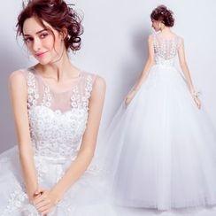 Angel Bridal - 无袖蕾丝公主婚纱