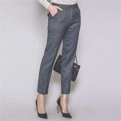 ERANZI - Flat-Front Ankle Pants