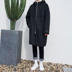 Mr. Cai - Fleece-Lined Hooded Zip Coat