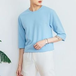 DANGOON - 3/4-Sleeve Textured T-Shirt
