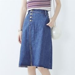 VeryBerry - Denim Midi Skirt