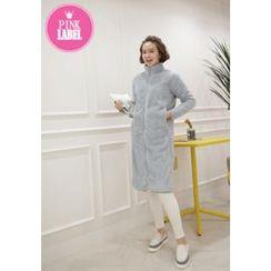 Lemite - Fleeced Zip Long Coat
