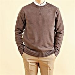 THE COVER - Crew-Neck Knit Top