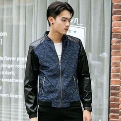 2RZ - Faux-Leather Printed Jacket