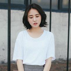 11.STREET - Elbow-Sleeve T-Shirt