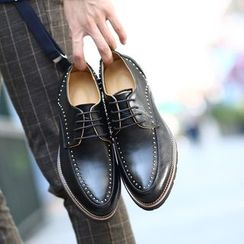 Hipsteria - Studded Genuine Leather Dress Shoes