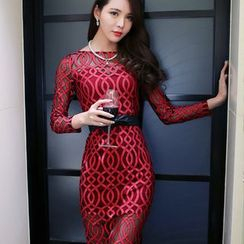 Aurora - Lace Sheath Dress