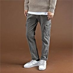 THE COVER - Drawstring-Waist Flap-Pocket Pants