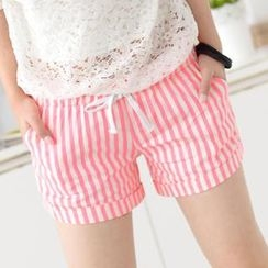 59 Seconds - Drawcord Waist Striped Shorts