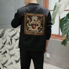 Better Man - Embroidered Frog Button Jacket