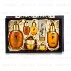 The History of Whoo - Gongjinhyang In Yang Special Set: Balancer (150ml + 20ml) + Emulsion (110ml + 20ml) + Cream 30ml + Eye Cream 4ml + Mask 17ml
