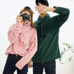 Seoul Homme - Couple Brushed-Fleece Pullover with Scarf