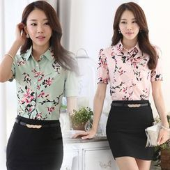 In the Mood - Short-Sleeve Floral Shirt