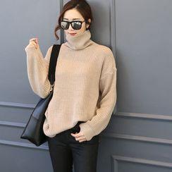 DANI LOVE - Turtle-Neck Rib-Knit Sweater