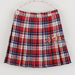 Skool - Plaid Pleated Skirt