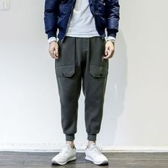YIDESIMPLE - Brushed Fleece-Lined Cargo Sweatpants