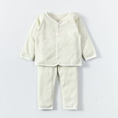 MOM Kiss - 嬰兒套裝:長袖上衣 + 褲
