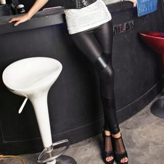 clubber - Wet-Look Leggings
