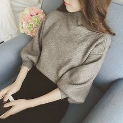 Bubbleknot - Set: Turtleneck Sweater + Midi Skirt