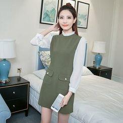 Sienne - Color Panel Long Sleeve Dress