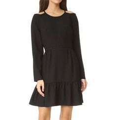 Lovebirds - Long-Sleeve Cutout-Shoulder Dress