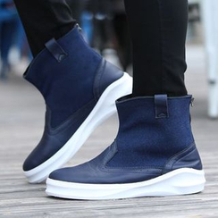 Preppy Boys - Faux-Leather Ankle Boots