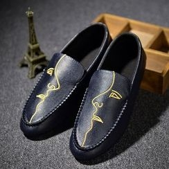 BINSHOU - Patterned Loafers