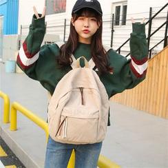 AIQER - 纯色帆布背包