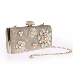 Glam Cham - Faux Pearl Crossbody Bag