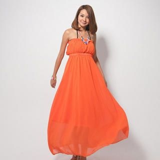 CatWorld - Strapless Chiffon Maxi Dress