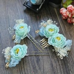 constello - Bridal Set: Flower Hair Pin + Flower Hair Comb