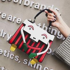 Shinian - 條紋手提包