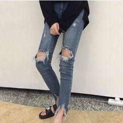 Octavia - Ripped Skinny Jeans