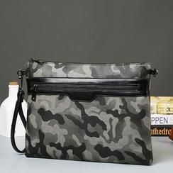 BagBuzz - Camo Faux Leather Clutch
