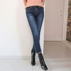 PPGIRL - Washed Cropped Jeans