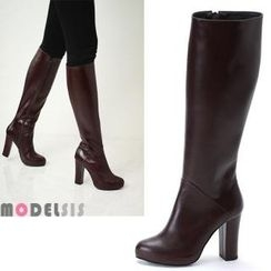 MODELSIS - Zip-Up Long Boots