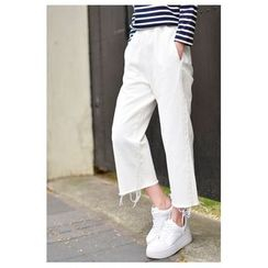 Yammi - Cropped Wide Leg Jeans