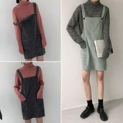 Moon City - Corduroy Pinafore Dress