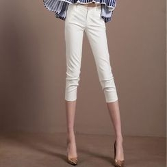 Ozipan - Slim-Fit Cropped Pants