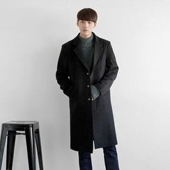 Seoul Homme - Wool-Blend Single-Breasted Coat