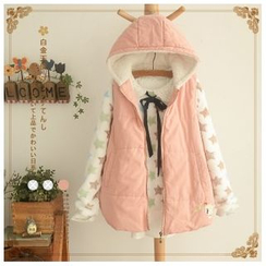 Angel Love - Appliqué Hooded Padded Vest
