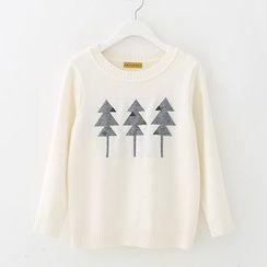 Meimei - 树木印花针织上衣