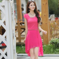 Fancy Show - Chain Inset Chiffon Dress