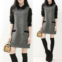 Sienne - Textured Two-Tone Dress