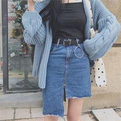 COMON - Asymmetric Denim Skirt