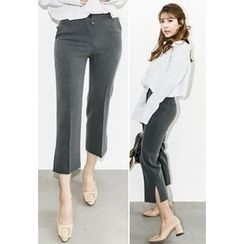 INSTYLEFIT - Slit-Side Cropped Pants